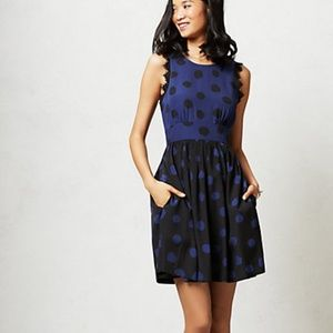 NWT Anthropologie Polka Dot Lace Dress